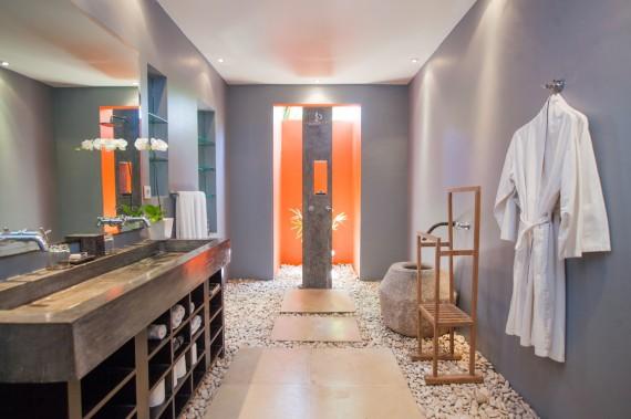 Guest House Bathroom - Orange Room