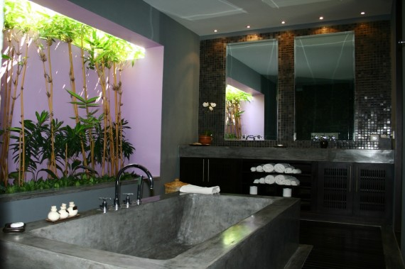 Guest House Bathroom - Purple Room