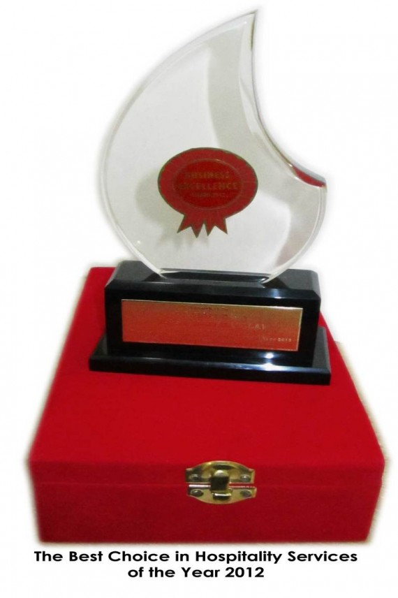 The Best Choise in Hospitality Services of The Year 2012